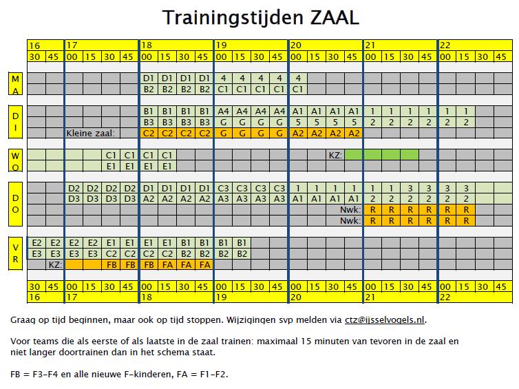 Trainingstijden_zaal